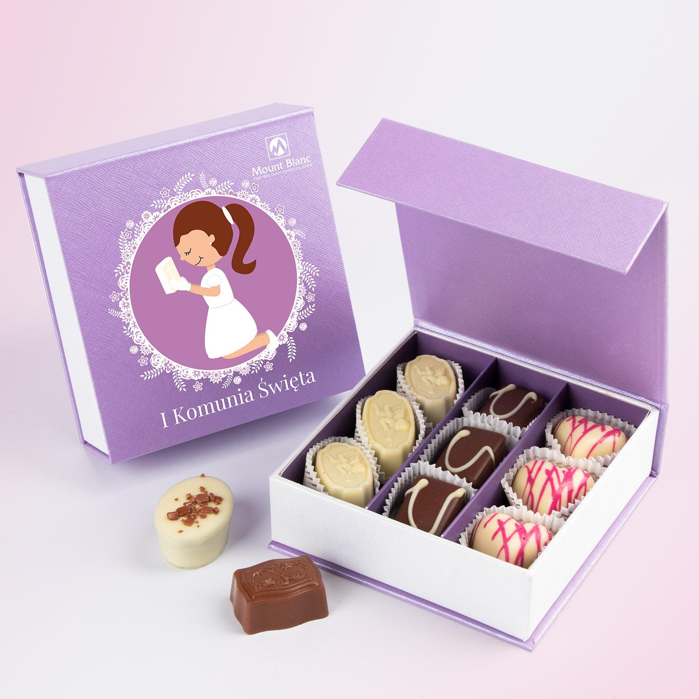 Pierwsza Komunia Święta - czekoladki na upominek