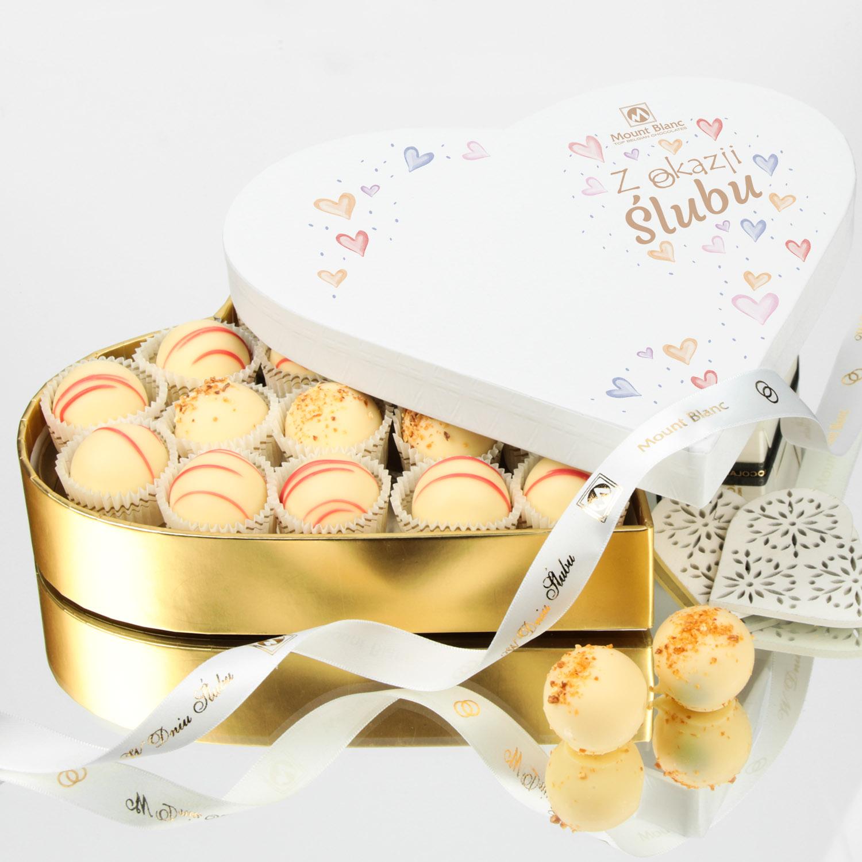 czekoladki ślubne - bombonierka